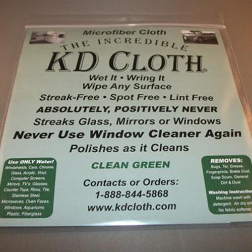 The Incredible Kd Cloth A Micro Fiber Cloth That Cleans